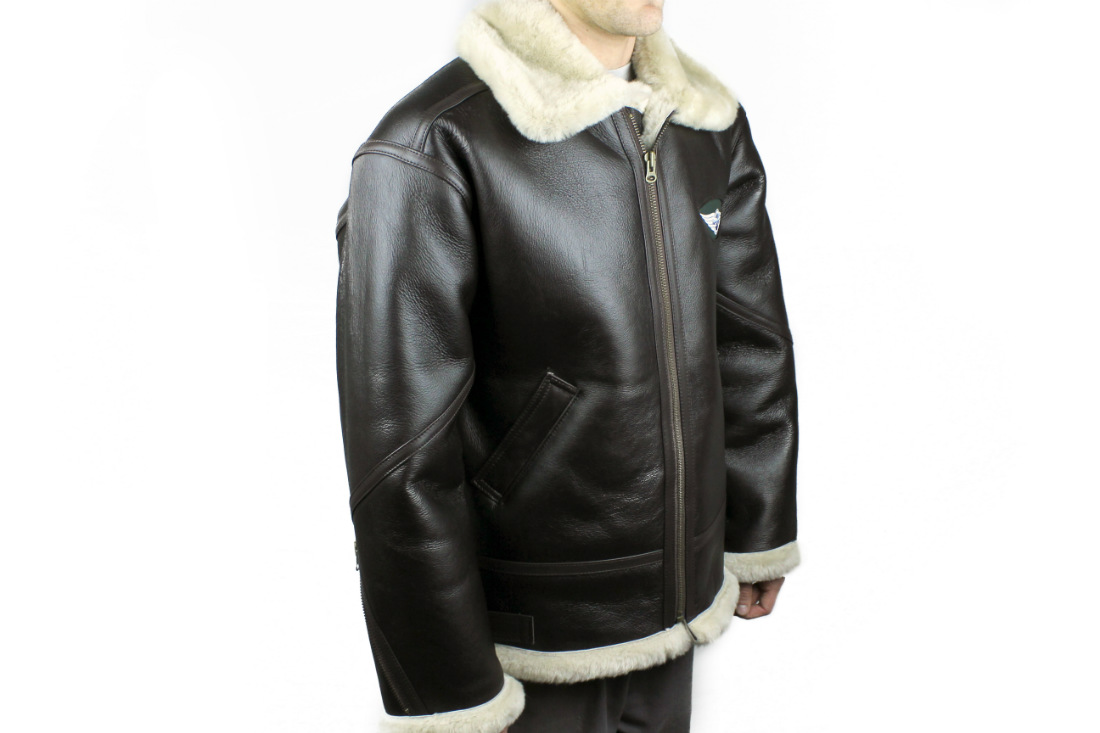 Leather / Sheepskin Flying Jacket - Morgan-0