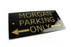 """Morgan Parking Only"" Sign -0"