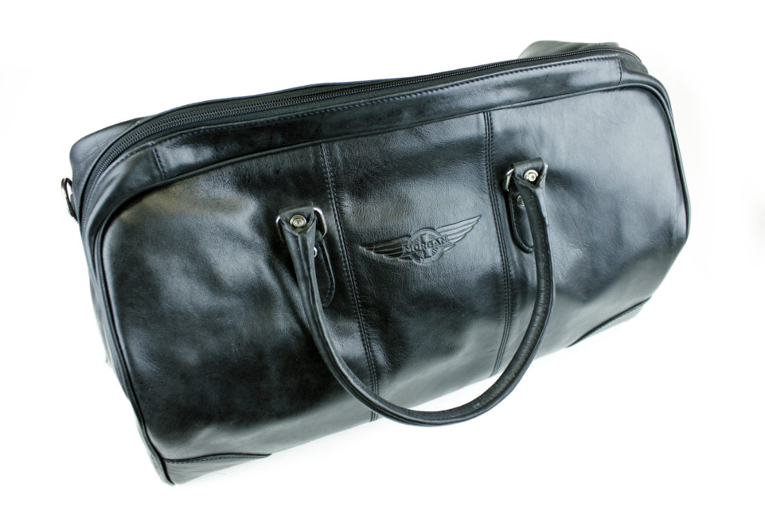 Leather Travel Bag - Black-0