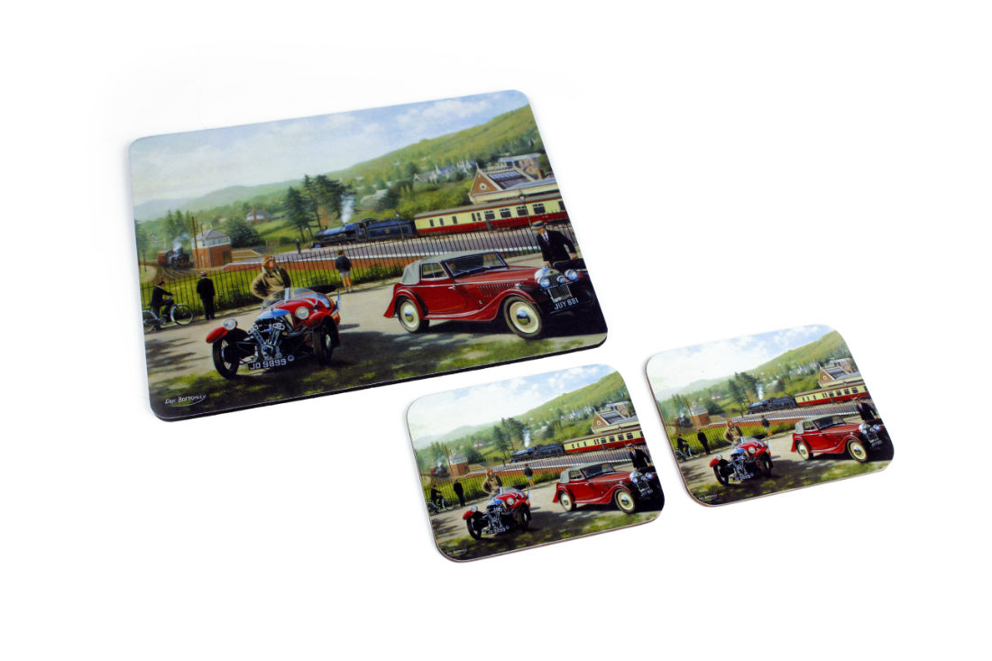 "Morgan ""Classic Travel"" Coaster and Mousemat Gift Pack-0"