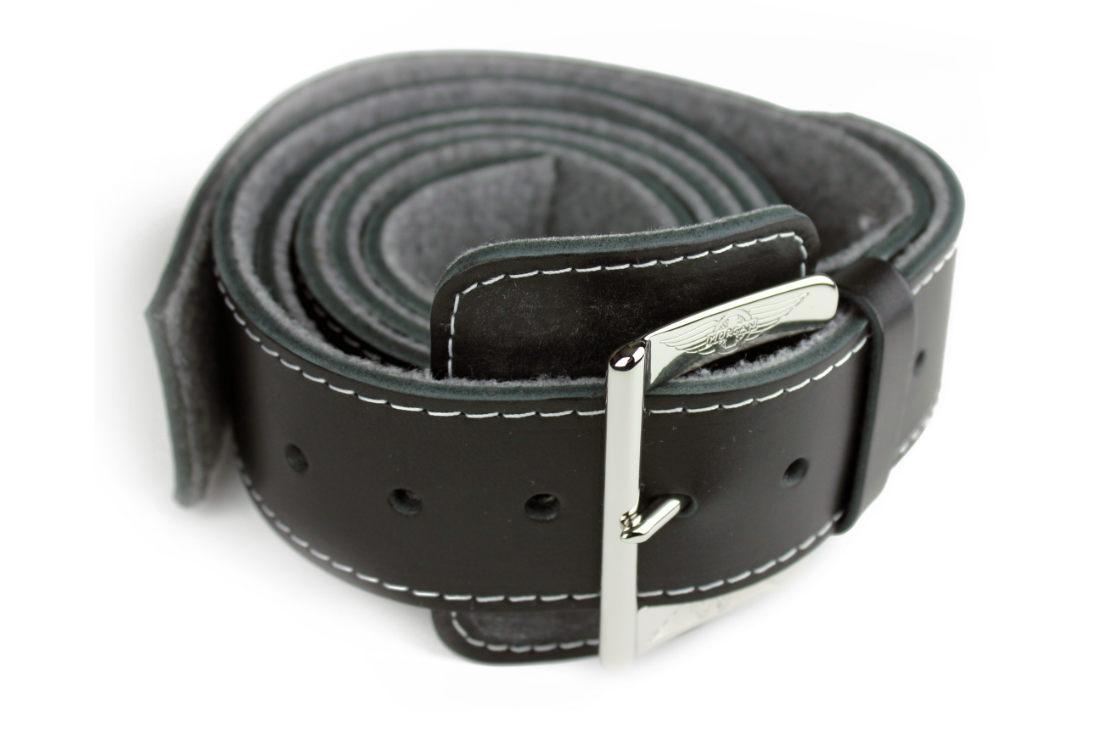 High Quality Leather Bonnet Strap - Chrome Buckle-0