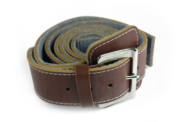 High Quality Leather Bonnet Strap - Chrome Buckle-1037