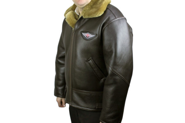 Leather / Sheepskin Flying Jacket - 3-Wheeler-0