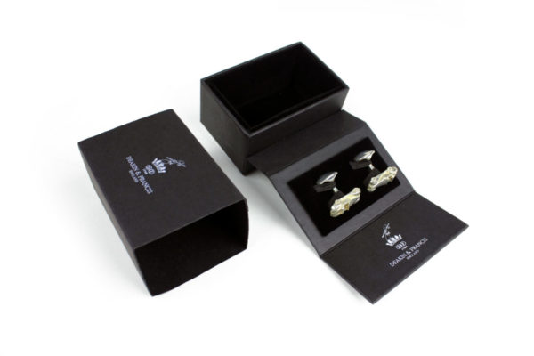 "Solid Silver Morgan ""SuperSport"" Cufflinks-1307"