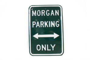 Morgan Parking Sign - GREEN (Portrait)-0