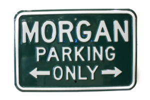 Morgan Parking Sign - GREEN (Landscape)-0