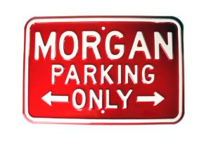 Morgan Parking Sign - RED (Landscape)-0