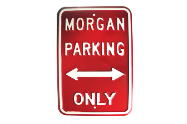 Morgan Parking Sign - RED (Portrait)-0