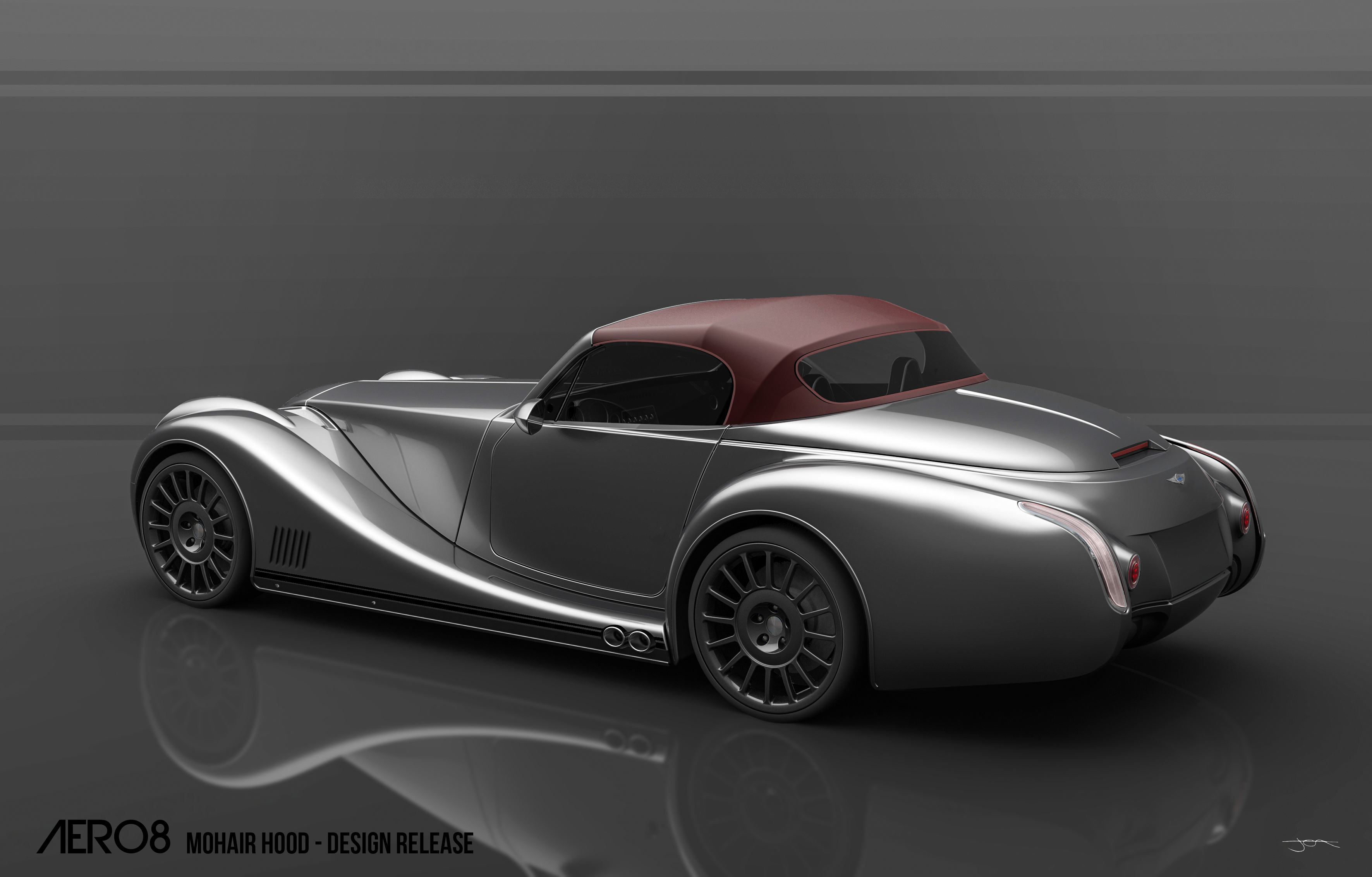 first look at soft top and new wheels on the morgan aero 8. Black Bedroom Furniture Sets. Home Design Ideas