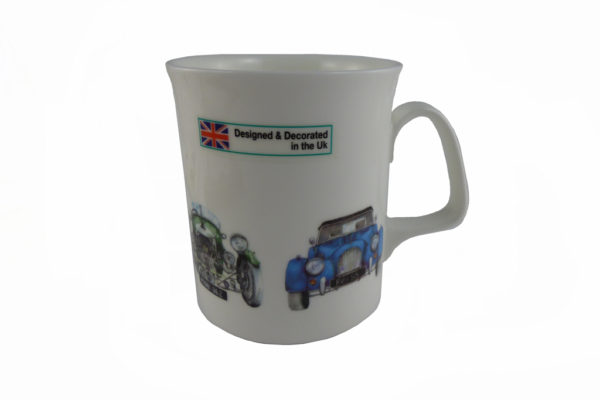 Fine Bone China Mug with 4 Morgan Cars-2502