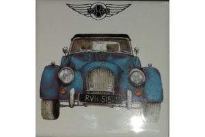 Fridge Magnet by Michele Butler Art featuring a blue Morgan-0