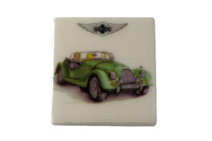 Fridge Magnet by Michele Butler Art featuring a green Morgan-0