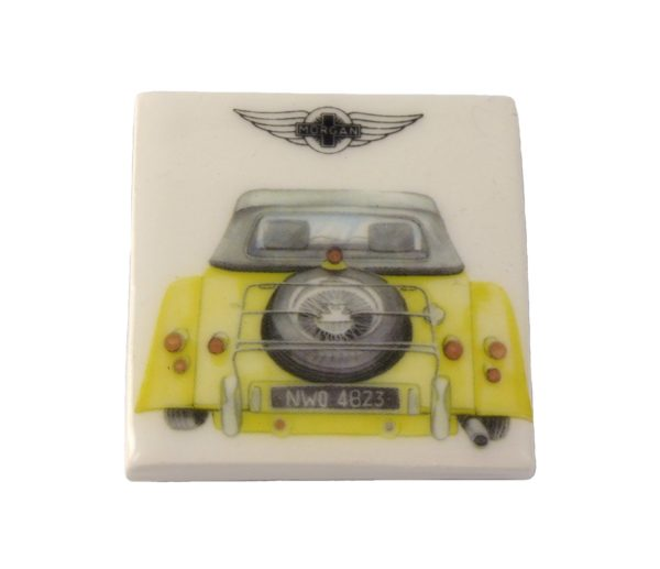 Fridge Magnet by Michele Butler Art featuring a yellow Morgan-2065