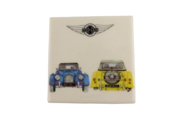 Ceramic Coaster with 2 Current Morgan Cars-0