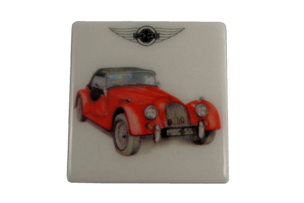 Fridge Magnet by Michele Butler Art featuring a red Morgan-0