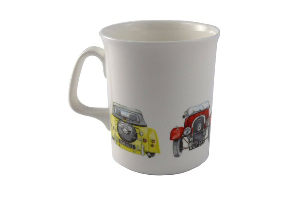 Fine Bone China Mug with 4 Morgan Cars-0