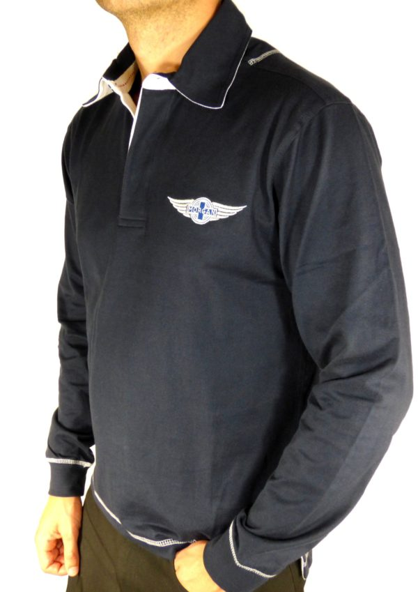 "Navy Rugby Shirt Morgan ""Wings"" Embroidered-2081"