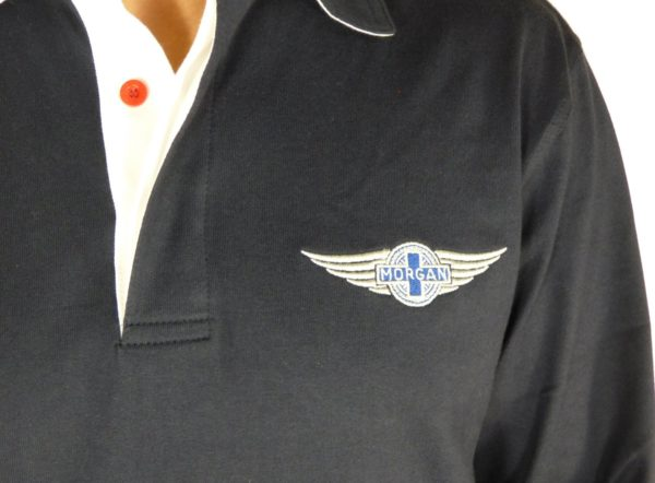 "Navy Rugby Shirt Morgan ""Wings"" Embroidered-2079"