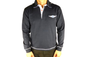 "Navy Rugby Shirt Morgan ""Wings"" Embroidered-0"