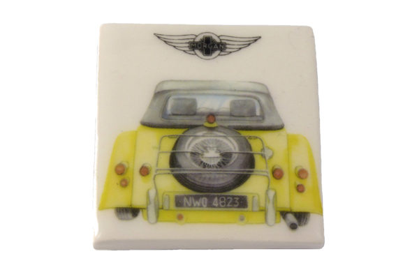 Fridge Magnet by Michele Butler Art featuring a yellow Morgan-0