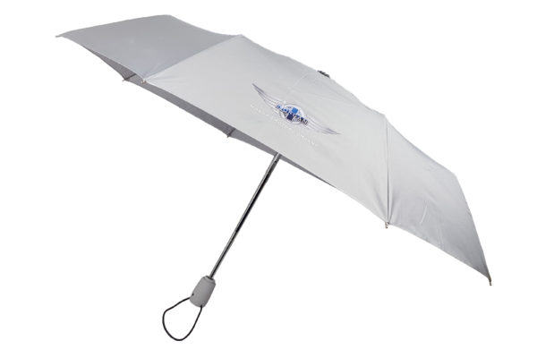 "Morgan Silver Telescopic Umbrella with ""Wings"" Logo-0"