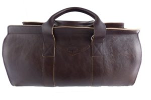 Aviator 1909 Morgan Travel Bag in Genuine Brown Leather-0