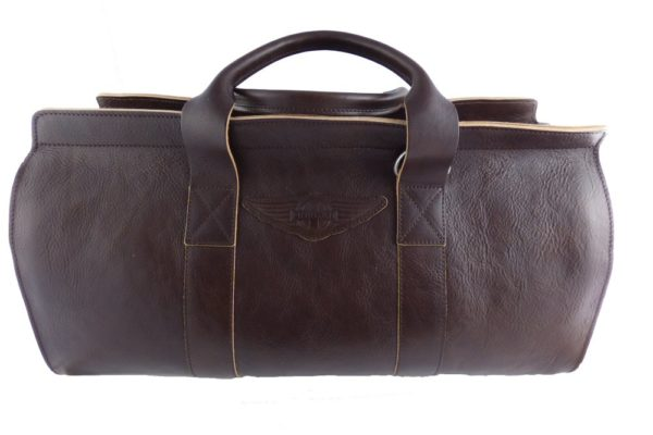 Aviator 1909 Morgan Travel Bag in Genuine Brown Leather-0