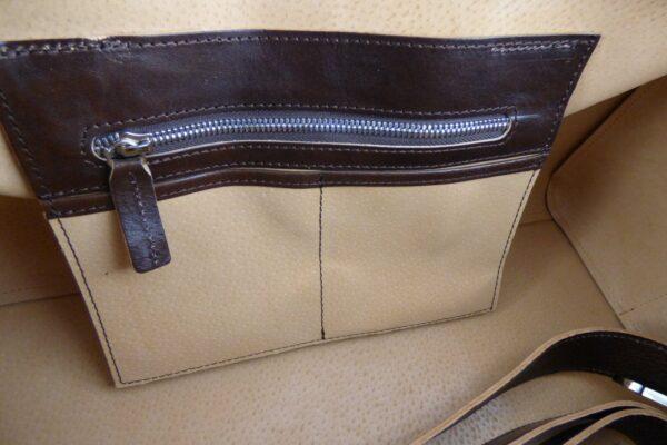 Aviator 1909 Morgan Travel Bag in Genuine Brown Leather-2209