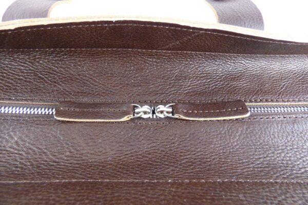 Aviator 1909 Morgan Travel Bag in Genuine Brown Leather-2208