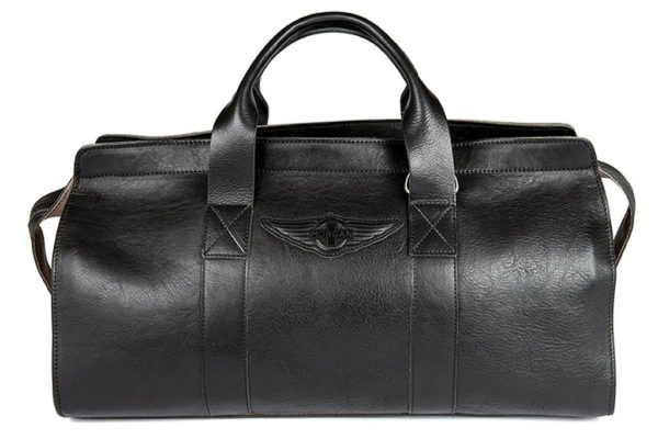 Aviator 1909 Morgan Travel Bag in Genuine Black Leather-0