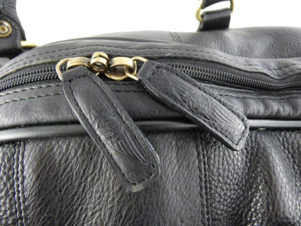 Harry - Medium Leather Holdall embossed with Morgan Wings-2227