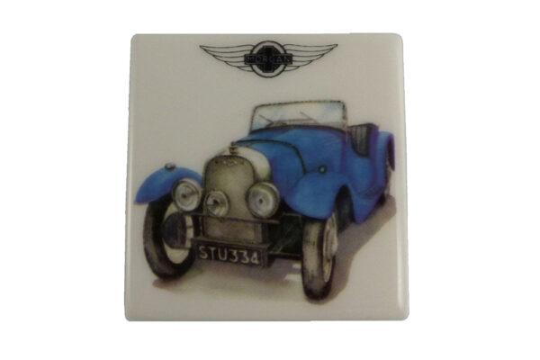 Fridge Magnet by Michele Butler Art featuring a blue Flat Rad-0