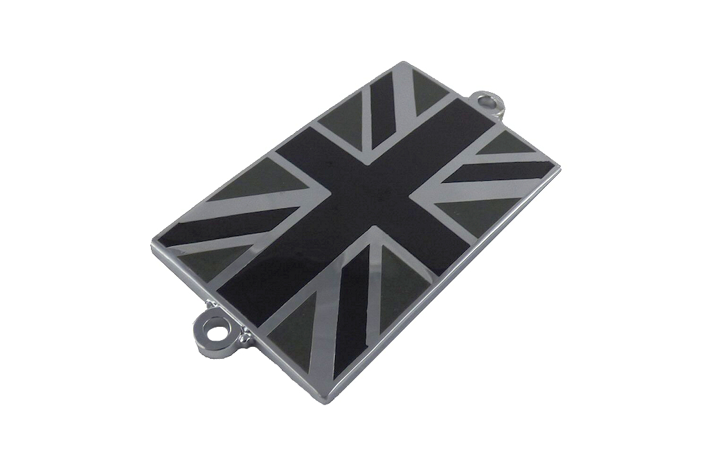 Union Jack Bonnet Badge - Black-0