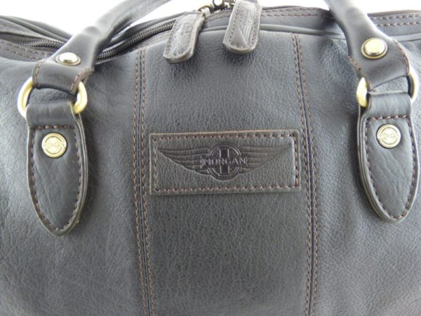 Charles - Large Leather Holdall embossed with Morgan Wings-2217