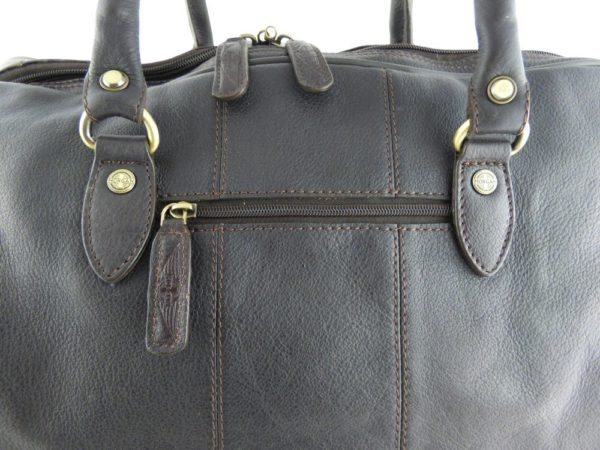 Charles - Large Leather Holdall embossed with Morgan Wings-2219