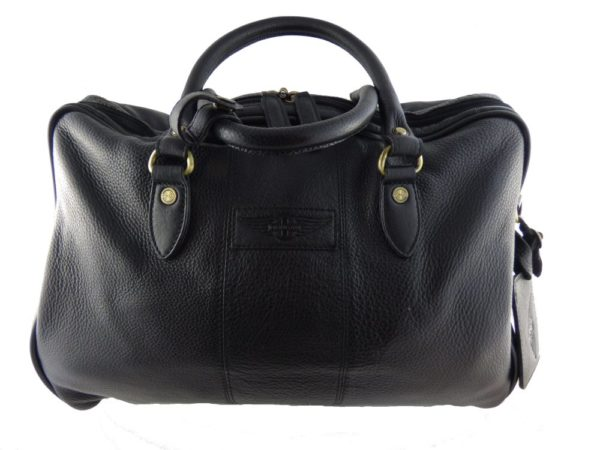 Charles - Large Leather Holdall embossed with Morgan Wings-2216