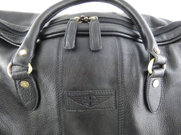 Harry - Medium Leather Holdall embossed with Morgan Wings-2228