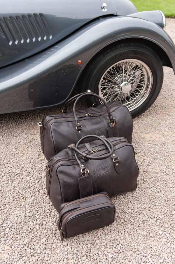 Harry - Medium Leather Holdall embossed with Morgan Wings-2226