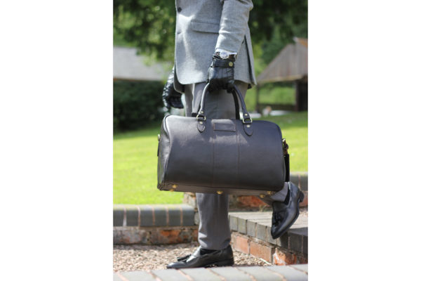 Harry - Medium Leather Holdall embossed with Morgan Wings-3010