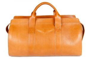 Aviator 1909 Morgan Travel Bag in Genuine Tan Leather-0