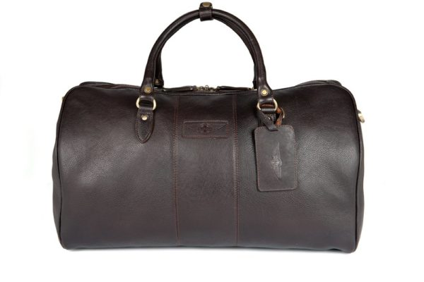 Charles - Large Leather Holdall embossed with Morgan Wings-0