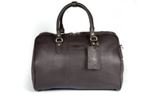 Harry - Medium Leather Holdall embossed with Morgan Wings-0