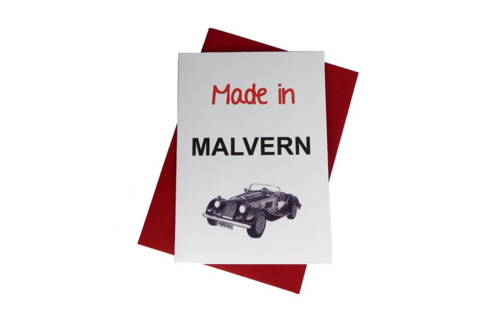 Morgan Greeting Card - Made In Malvern-0