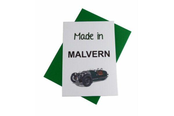 Morgan Greeting Card - Made In Malvern 3 Wheeler-0