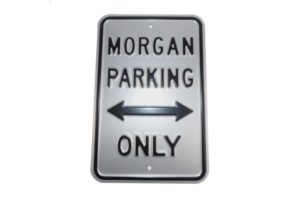 Morgan Parking Sign - Silver (Portrait)-0