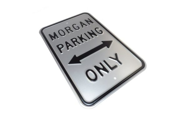 Morgan Parking Sign - Silver (Portrait)-2394