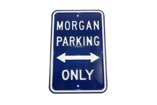 Morgan Parking Sign - Blue (Portrait)-0