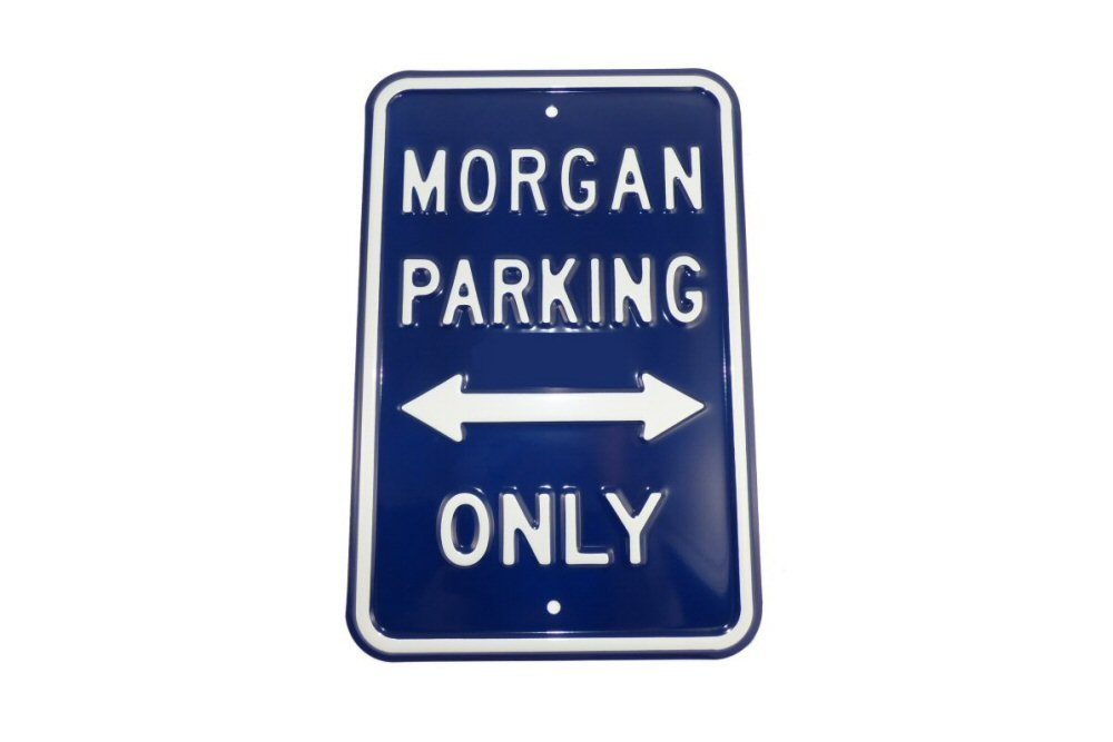 Morgan Parking Sign - Blue (Portrait)-0