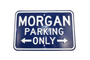 Morgan Parking Sign - Blue (Landscape)-0
