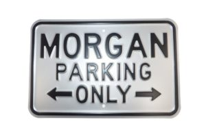Morgan Parking Sign - Silver (Landscape)-0